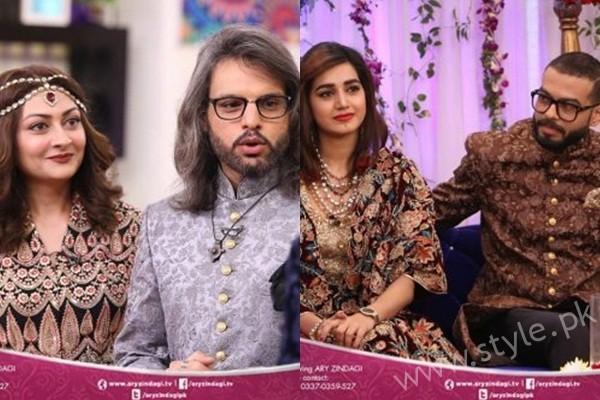 See Anum Fayyaz and Jana Malik with their Husbands in Salam Zindagi