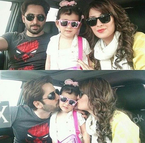 Ayeza Khan Danish Taimoor With Daughter Hoorain