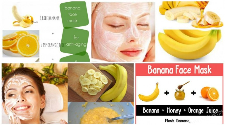 Homamade banana face masks