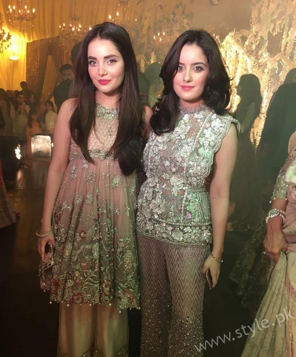 Armeena Rana Khan and Sister at Urwa Farhan Wedding