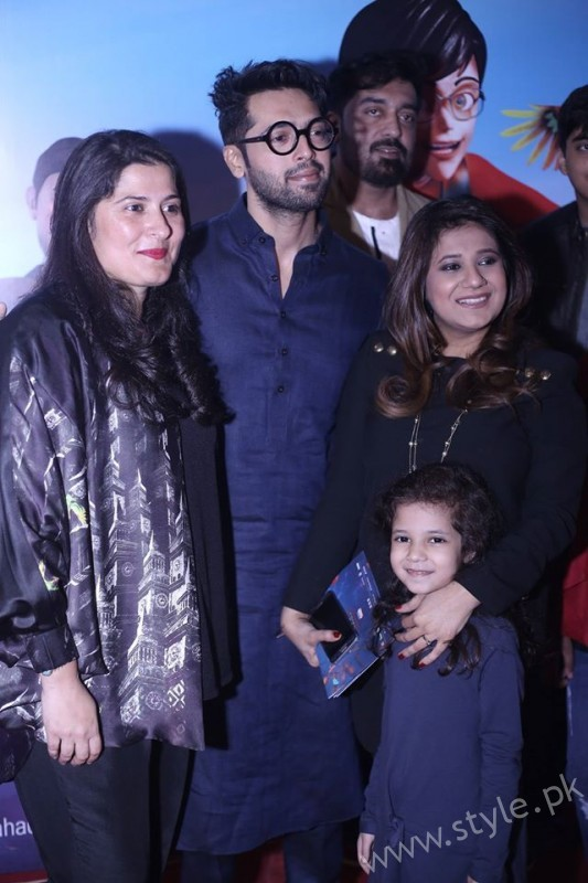 Sharmeen Obaid Chinoy, Fahad Mustafa, Sana Fahad and Fatima Fahad