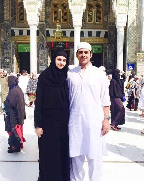 Goher Mumtaz and Anam Ahmed Performing Umrah