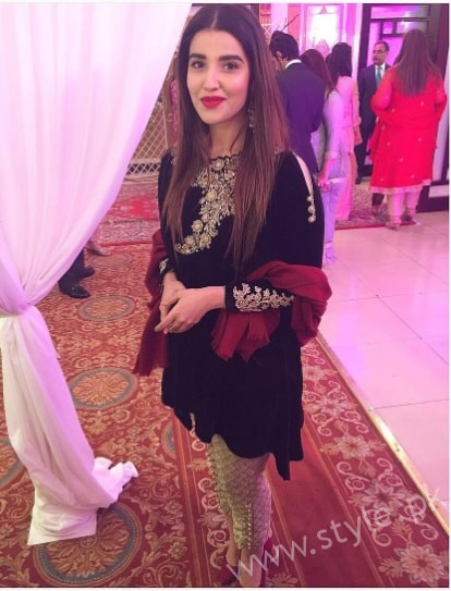 Hareem Farooq at her friend's Wedding (6)