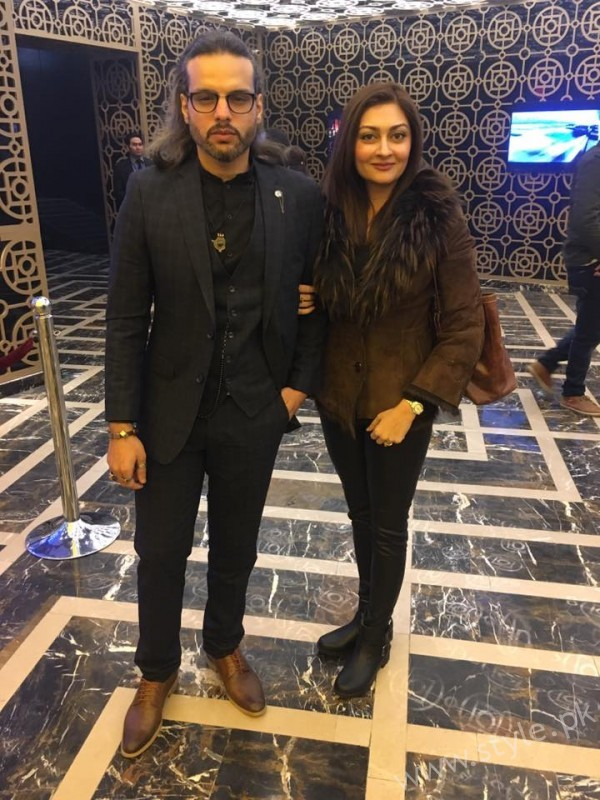 Jana Malik and Nouman Javaid at the premiere of Saya E Khuda E Zuljalal