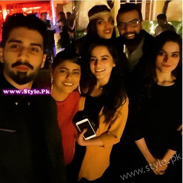 Muneeb Butt, Aiman Khan, Minal Khan, Zhalay Sarhadi, Noor Hassan and Erum Shahid at Gatsby Night Party