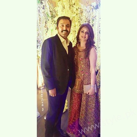 Noman Ijaz with Wife Rabia Noman at Urwa Farhan Wedding