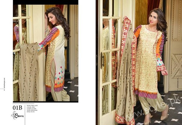 Reeva Linen Dresses 2016 By Shariq Textiles005