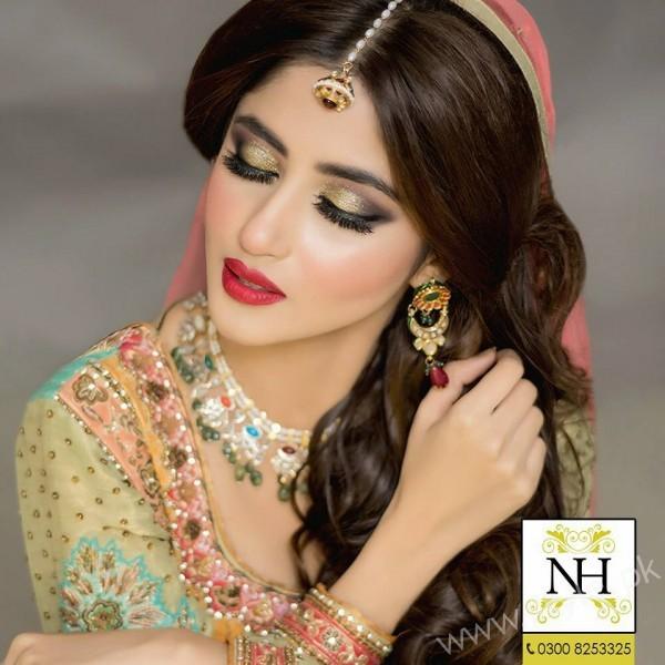 Sajal Ali Bridal Makeup Nadia Hussain Salon