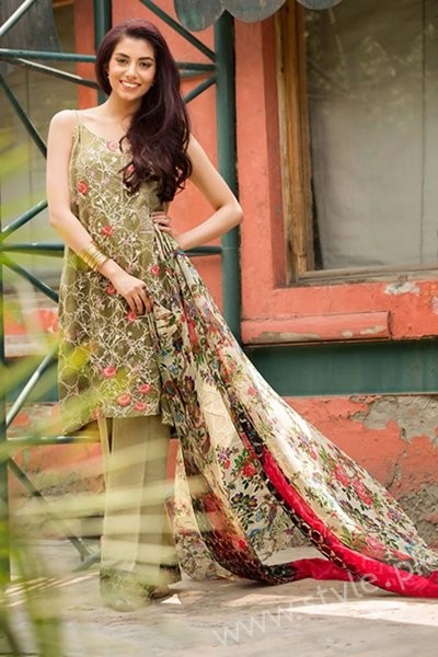 So Kamal Embroidered Chiffon Dresses 2016 - 2017 For Women003