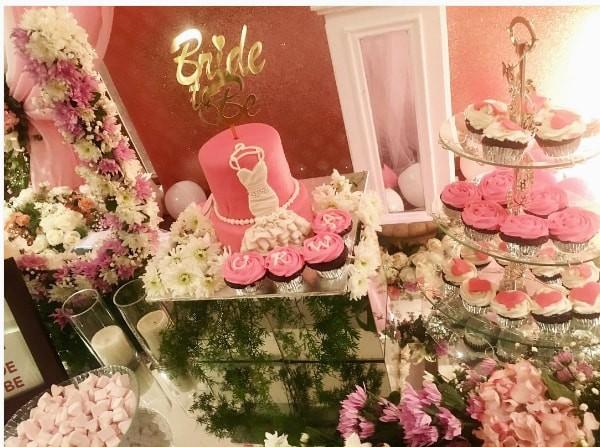 Urwa Hocane Bridal Shower Decoration Pics