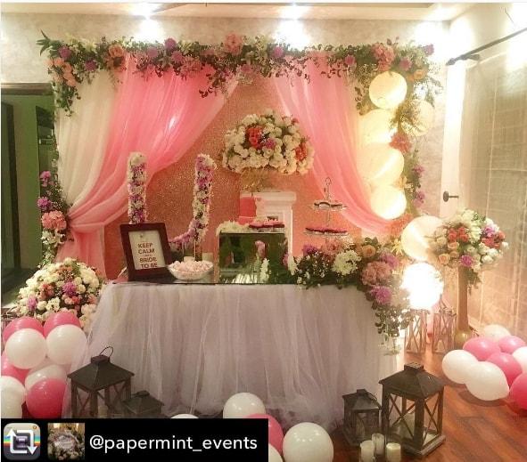 Urwa Hocane Bridal Shower Decoration Pictures