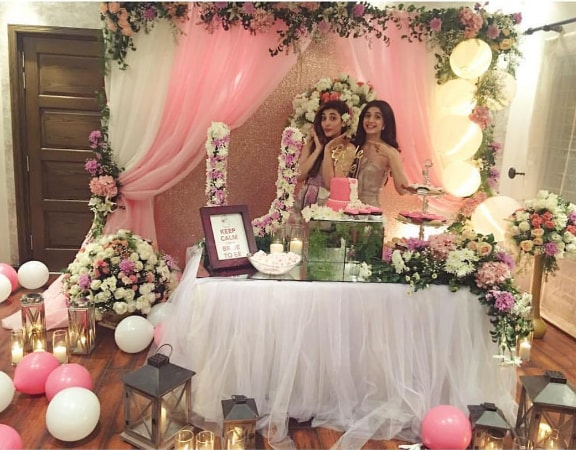 Urwa Hocane Bridal Shower Decoration Pics (3)