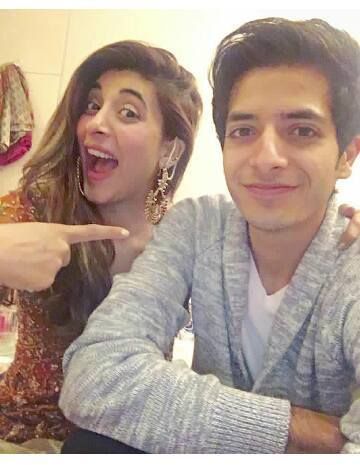 urwa with brother on 2nd dholki