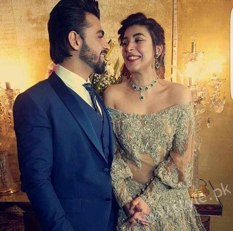 Urwa Hocane & Farhan Saeed from their wedding reception