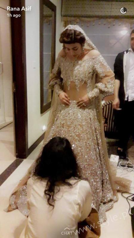 Urwa Hocane Wedding Reception Dress