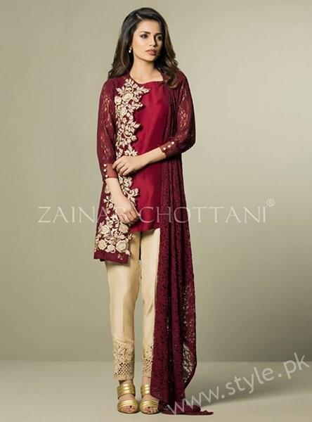 07b3a20a7 Zainab Chottani Winter Dresses 2016-2017 For Women - Style.Pk