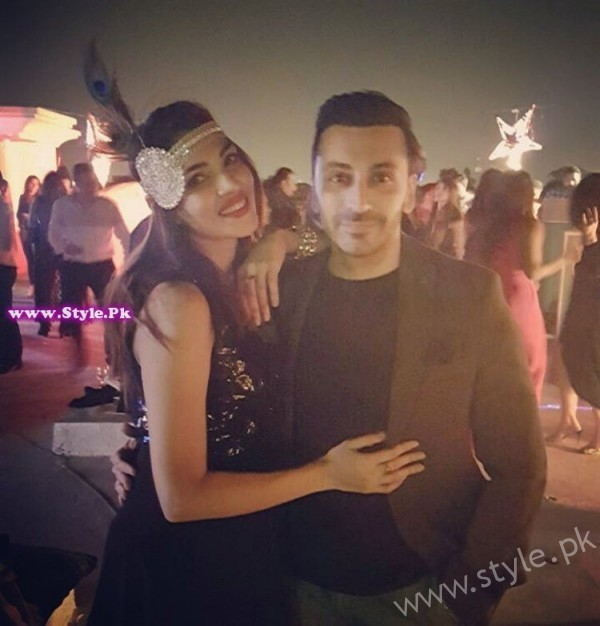 Zhalay Sarhadi with Amir Anees at Gatsby Night