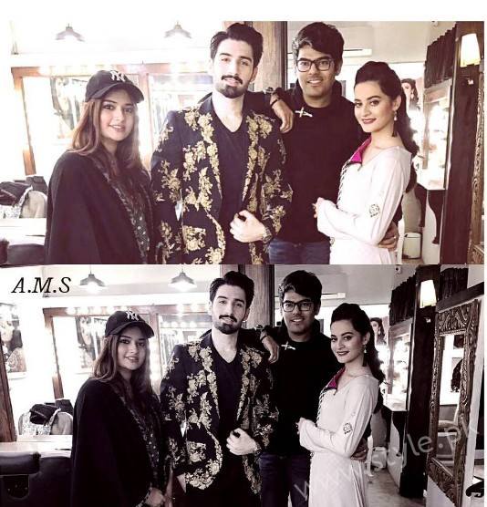 Aiman Khan and Muneeb Butt at 'Tonight With HSY' (2)