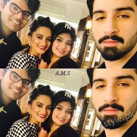 Aiman Khan and Muneeb Butt at 'Tonight With HSY' (3)