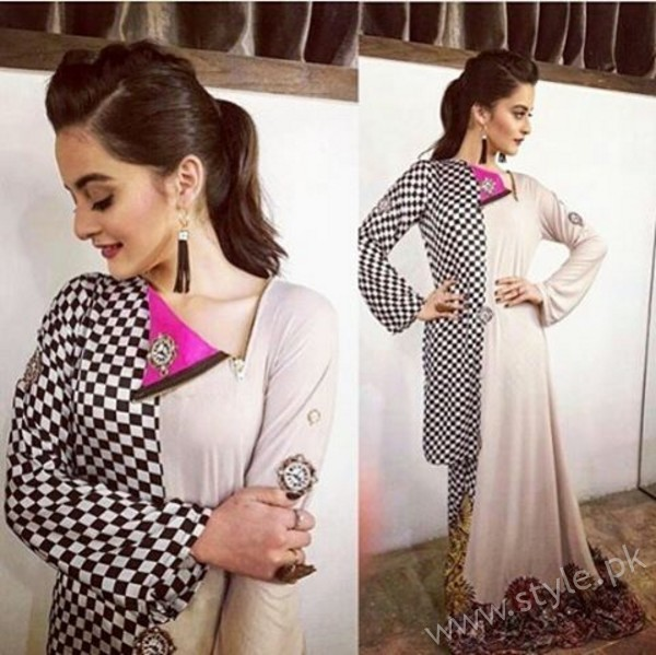 Aiman Khan and Muneeb Butt at 'Tonight With HSY' (4)