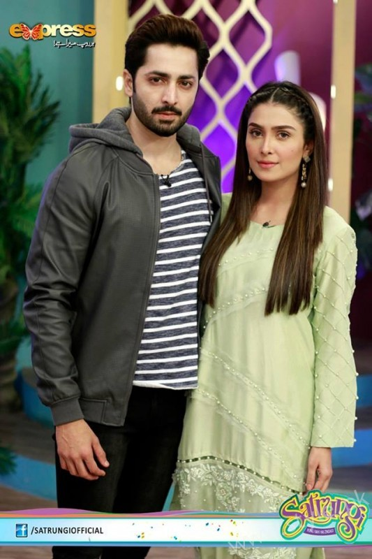 Ayeza Khan's surprise Birthday Celebration in Morning Show 'Satrungi' (11)