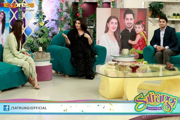 Ayeza Khan's surprise Birthday Celebration in Morning Show 'Satrungi' (18)