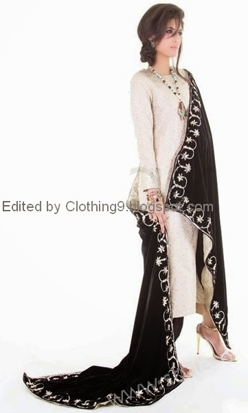 Embroidered velvet shawls are ruling in winters 2017 (9)