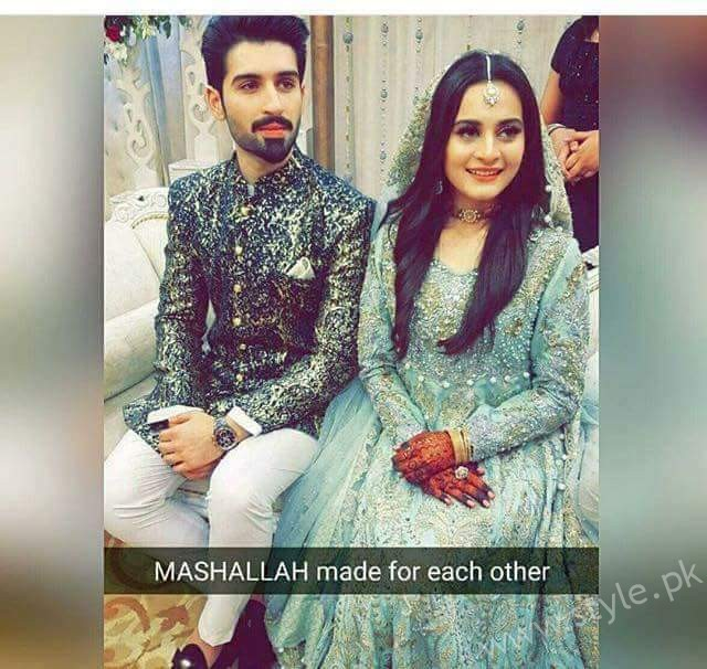 Muneeb Butt and Aiman Khan