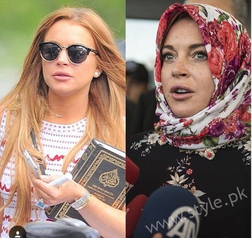 See Hollywood Actress Lindsay Lohan embraced Islam and removed all her Pictures