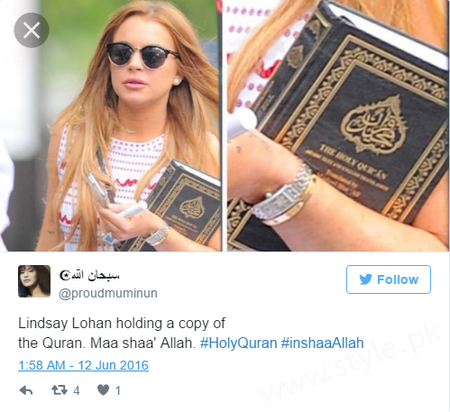 Hollywood Actress Lindsay Lohan embraced Islam and removed all her Pictures (2)