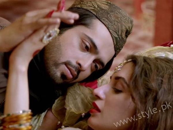 Iman Ali and Fahad Mustafa Romantic