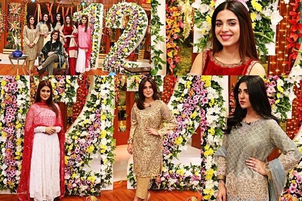 See Kubra Khan, Sarah Khan, Iqra Aziz and Sonya Hussain at 12 Anniversary of HUM TV