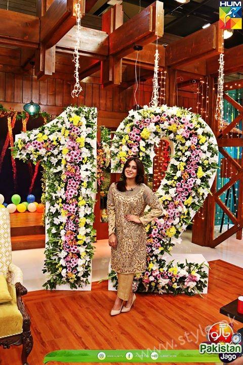 Kubra Khan, Sarah Khan, Iqra Aziz and Sonya Hussain at 12 Anniversary of HUM TV (33)