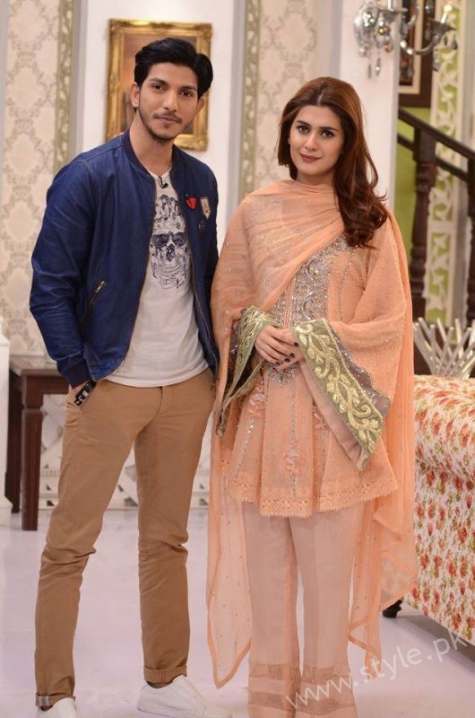 Kubra khan and Mohsin Abbas in Nida Yasir Show (1)