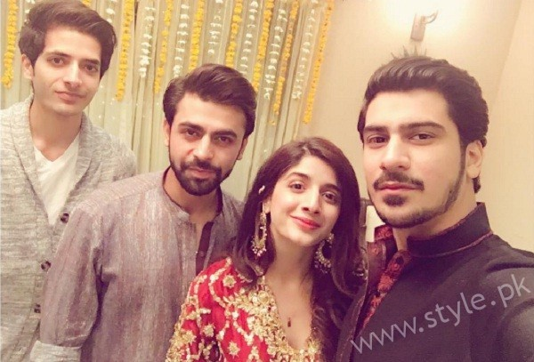 Mawra Hocane With Her Fiance Amish Azhar