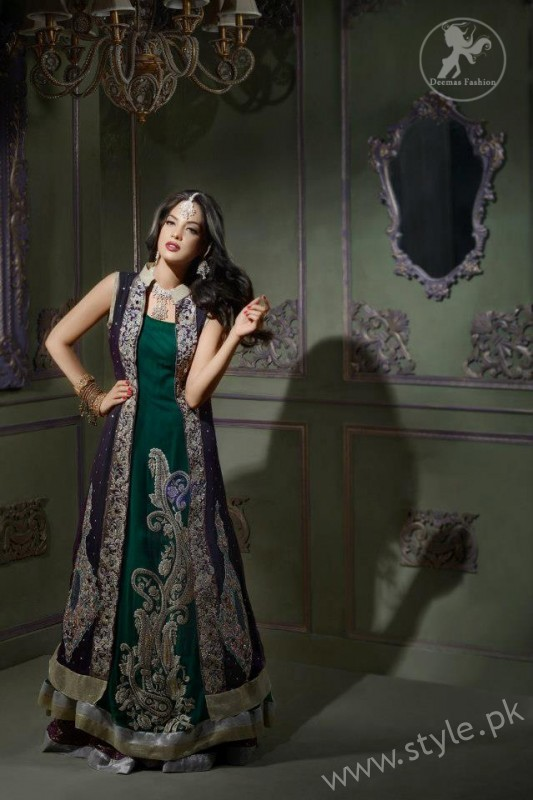 New gown style dresses in Pakistan (14)