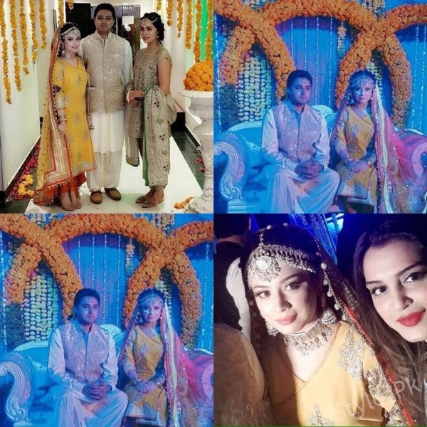 Nimra Khan and Nazia Malik at Sidra Batool's Mehndi