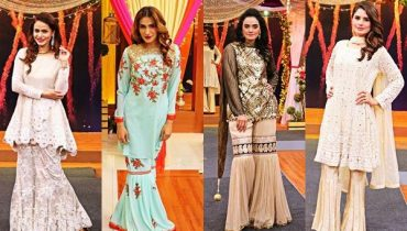 See Pakistani Gharara Dresses Showcased at Jago Pakistan Jago