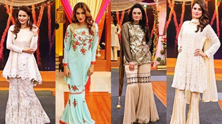 See Pakistani Gharara Dresses Showcased at Jago Pakistan Jago