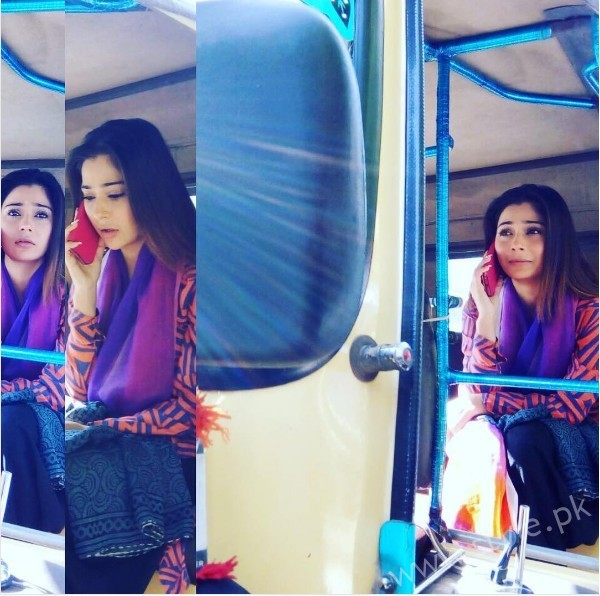 Pictures of Indian Actress Sara Khan from Set of her drama Laikin (2)