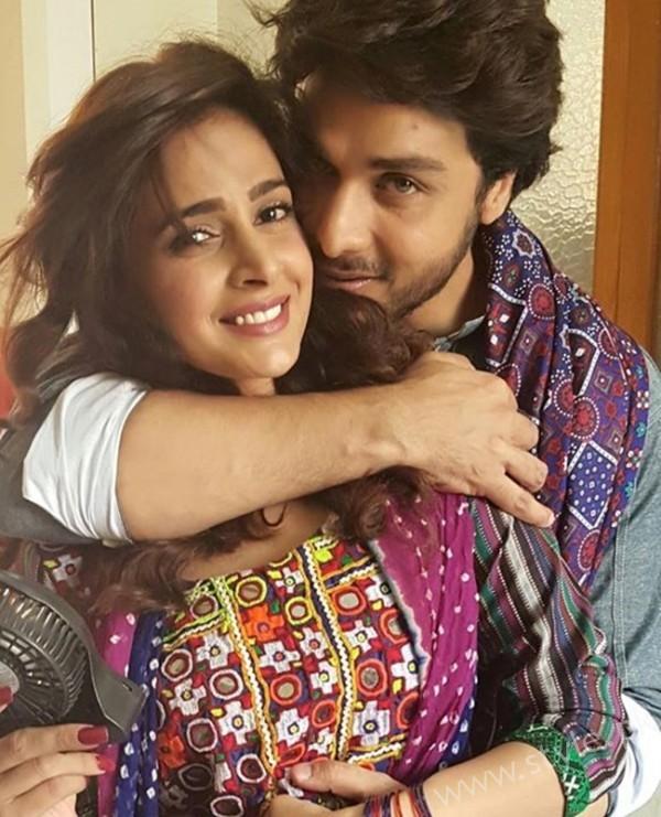 Saba Qamar and Ahsan Khan Romantic