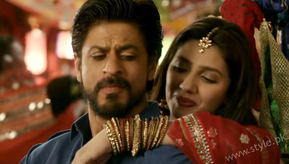 Shah Rukh Mahira In Raees