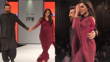 See Nida Yasir and Yasir Nawaz walked on ramp at FPW 2017