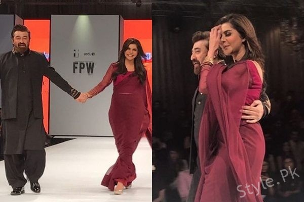 See Nida Yasir and Yasir Nawaz walked on ramp at FPW 2017