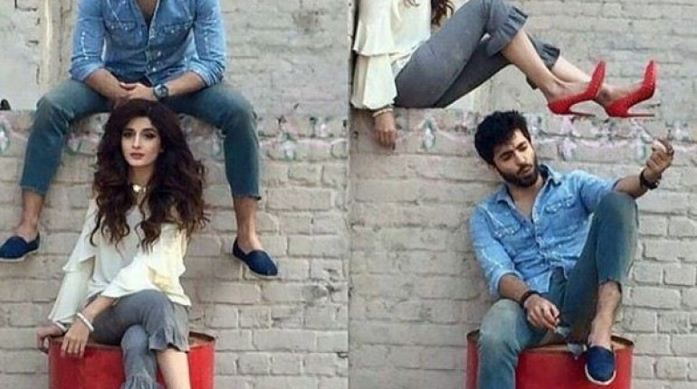 See hotoshoot of Mawra Hocane and Shehryar Munawar for a Clothing Brand