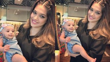 See Recent Pictures of Sanam Jung with her daughter - View Sanam Jung baby Pictures