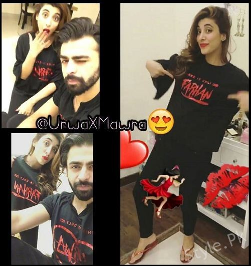 Urwa Hocane and Farhan Saeed On Valentine Day