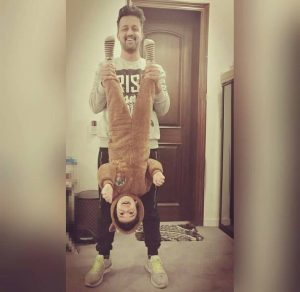 See Atif Aslam Spending Time with his Son - Atif Aslam Son