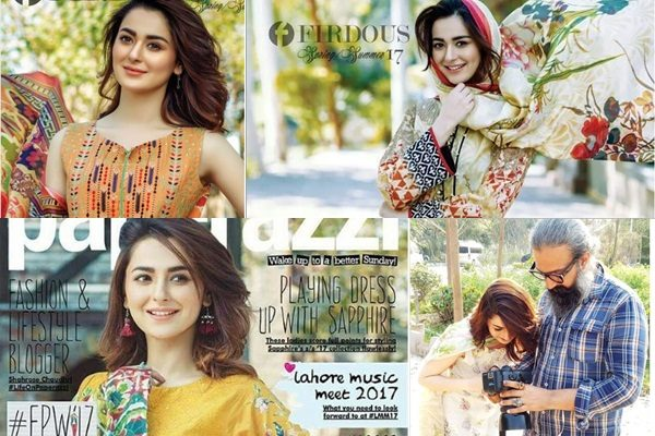 See Beauty in Town Hania Amir's Breathtaking Photoshoot for Firdous Lawn