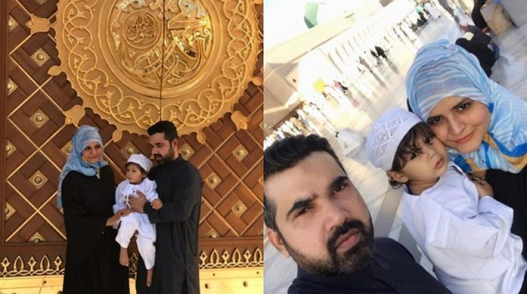 See Beenish Chohan Performed Umrah with her Husband and Son